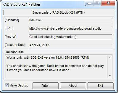 Delphi XE4 Official ISO + Patch +Activator v7.0